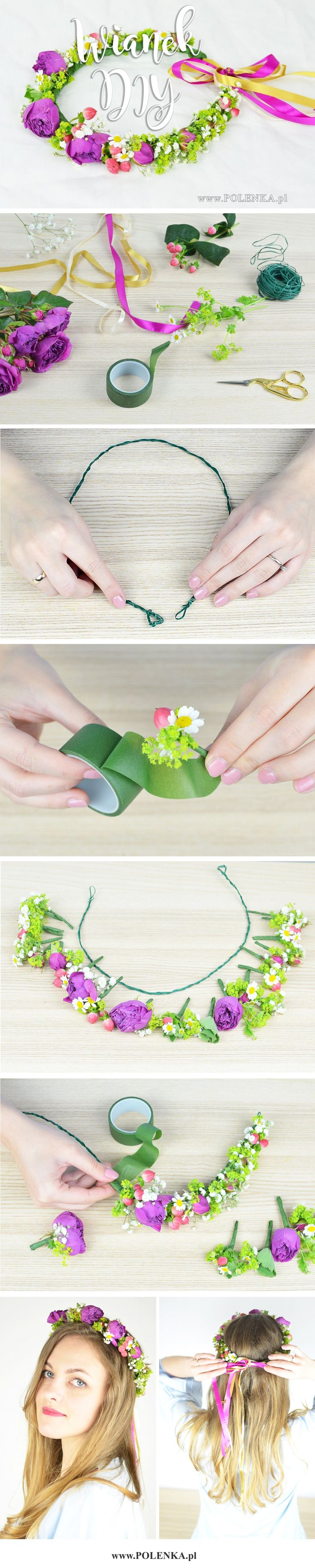 Jak zrobić wianek z kwiatów? DIY