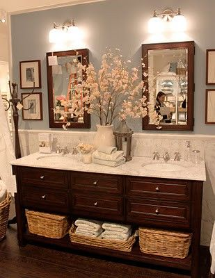 Bathroom with His/ Her sinks