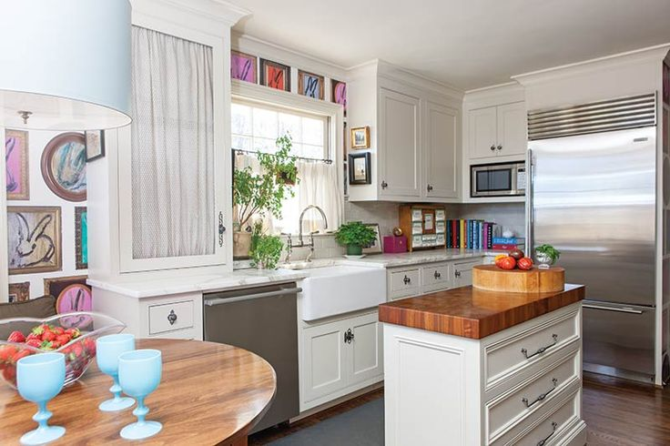 This eclectic cottage kitchen remodel has more than just a splash of personal style!