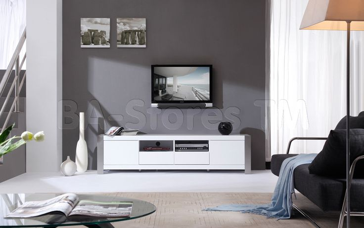 B-Modern Composer TV Stand in White by B-Modern