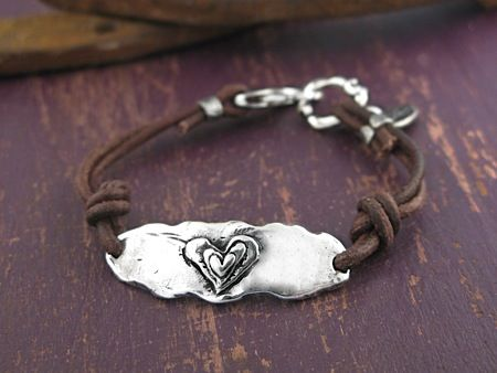 Handcrafted Jewelry-Follw Your Heart Bracelet-Island Cowgirl Jewelry-Handmade Bracelet