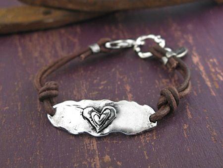 Handcrafted Jewelry-Follw Your Heart Bracelet-Island Cowgirl Jewelry-Handmade Bracelet