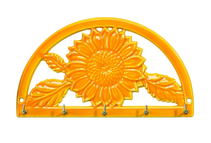 Two-Tone Sunflower Key Rack, Tangerine on One Kings Lane today
