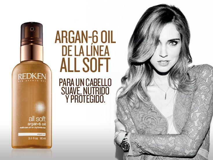 Argan Oil: Olvídate del cabello seco y quebradizo. Serum restaurador, contiene Omega 6 PROTEGE: Escudo pre-secado. ILUMINA: Incrementa el brillo. SUAVIZA: Incrementa la suavidad. Encuéntralo en tu Vossa favorito.715-6902 / 260-4706