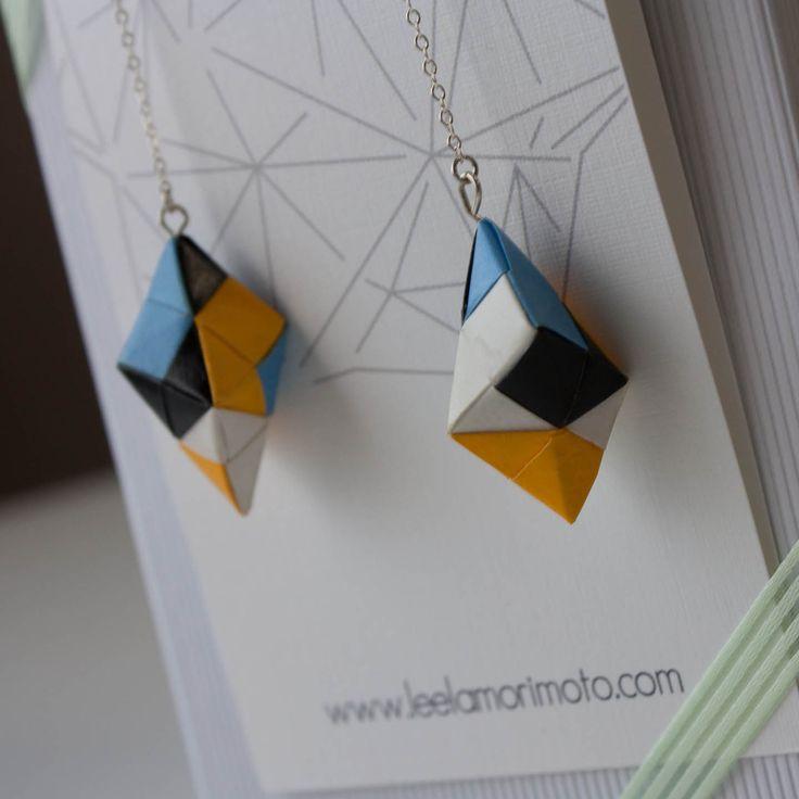 Ayano Origami Earrings. $30.00, via Etsy.