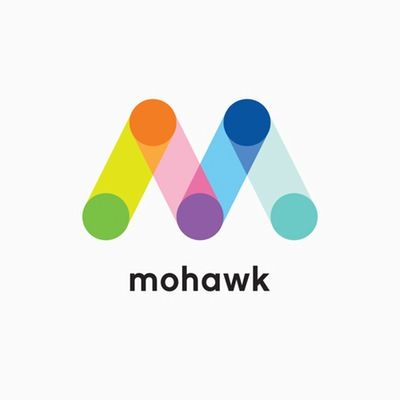 Mohawk Fine Papers logo One of his designs while at pentagram