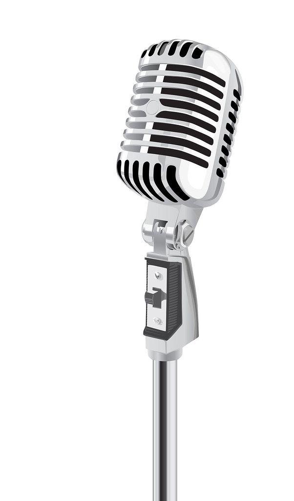Retro Microphone Vector Old Microphone Vintage Microphone Microphone Drawing