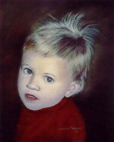 A soft pastel portrait of my grandson Nicholas. One of my first portraits using soft pastels.