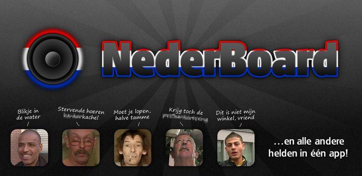 """NederBoard is een verzamelprogramma voor soundboards van bekende Nederlandse """"meme's"""", welke lokaal worden geïnstalleerd. Gebruikers kunnen aanvullende soundboards downloaden uit de ingebouwde SoundboardStore om hun collectie verder uit te breiden. Tevens kan men suggesties of eigen soundboards indienen, waarna deze in de SoundboardStore kunnen worden gepubliceerd en iedereen ze kan downloaden!"""