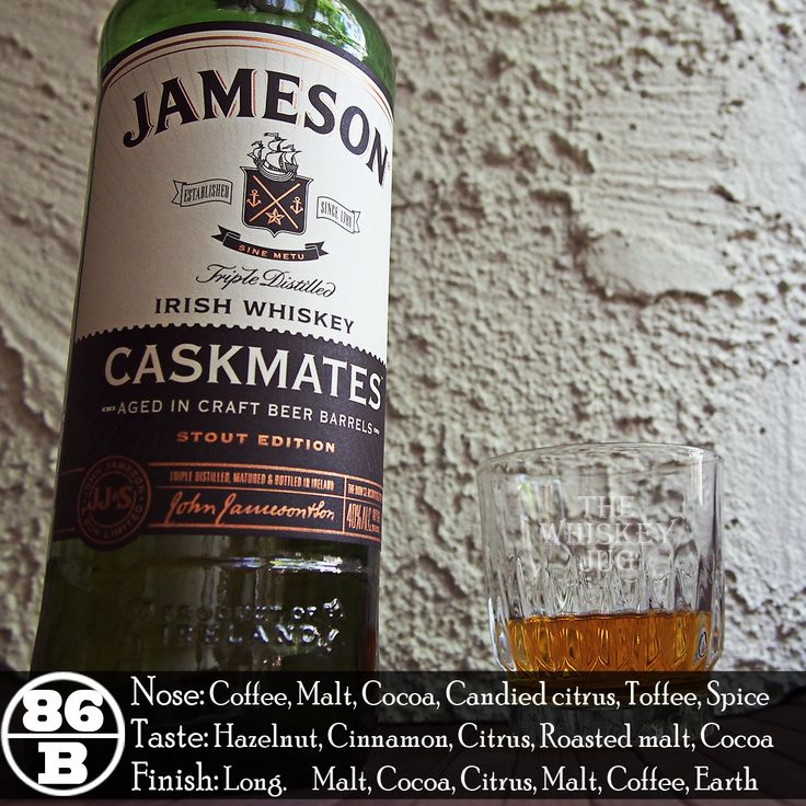 Jameson Cask Mates Stout Finish has blown me away. I can't believe how much the addition of the stout casks have enhanced and enriched the typical Jameson Irish Whiskey. I know it's a common theme from me this month to talk about non-chill filtering and higher proof, but I can't help thinking this would go from a good whiskey to an excellent whiskey if it was at least 92 proof and non-chill filtered – I truly think it would soar.