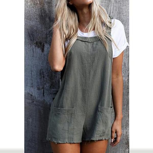 Sleeveless Dungarees Cotton Long VEMOW Women Jumpsuits Playsuit Ladies Rompers Bodysuit All in One Overalls Loose Cami Harem Oversized Baggy Dungarees Lagenlook Trousers