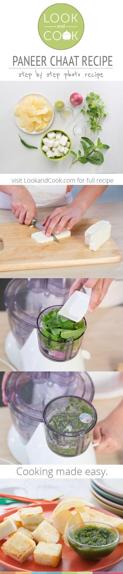 PANEER CHAAT RECIPE Paneer Chaat Recipe (#LC14135): Get step by step photo recipe at lookandcook.com