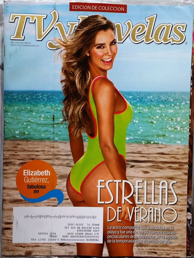 Elizabeth Gutierrez TV y Novelas USA August 2014 Celebrity Lifestyle Spanish
