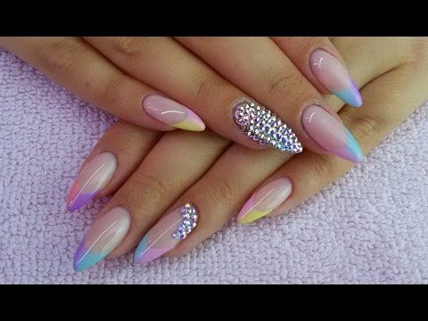Ombre French Semilac - YouTube