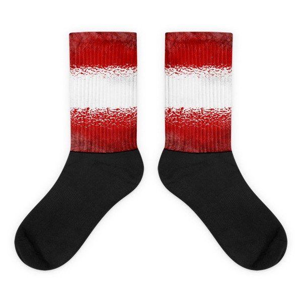 Austrian Flag Socks