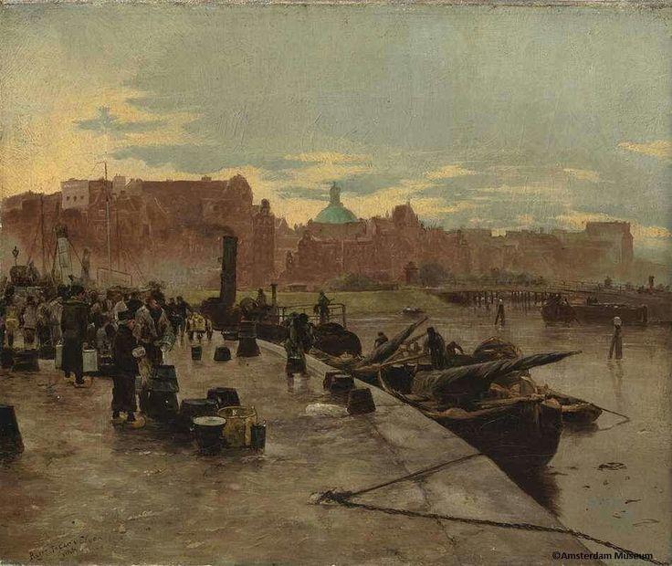 Pierre Tetar van Elven, Melkmarkt aan de Prins Hendrikkade, 1881, Amsterdam Museum
