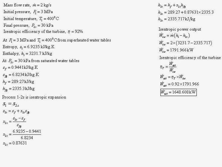 Thermodynamics Answer Help: Steam at 3 MPa and 400 °C is expanded to 30 kPa in...