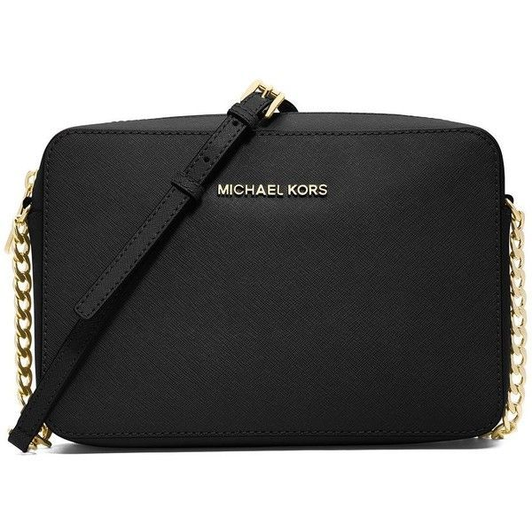 MICHAEL MICHAEL KORS Jet Set Travel Saffiano Crossbody Bag ($148) ❤ liked on Polyvore
