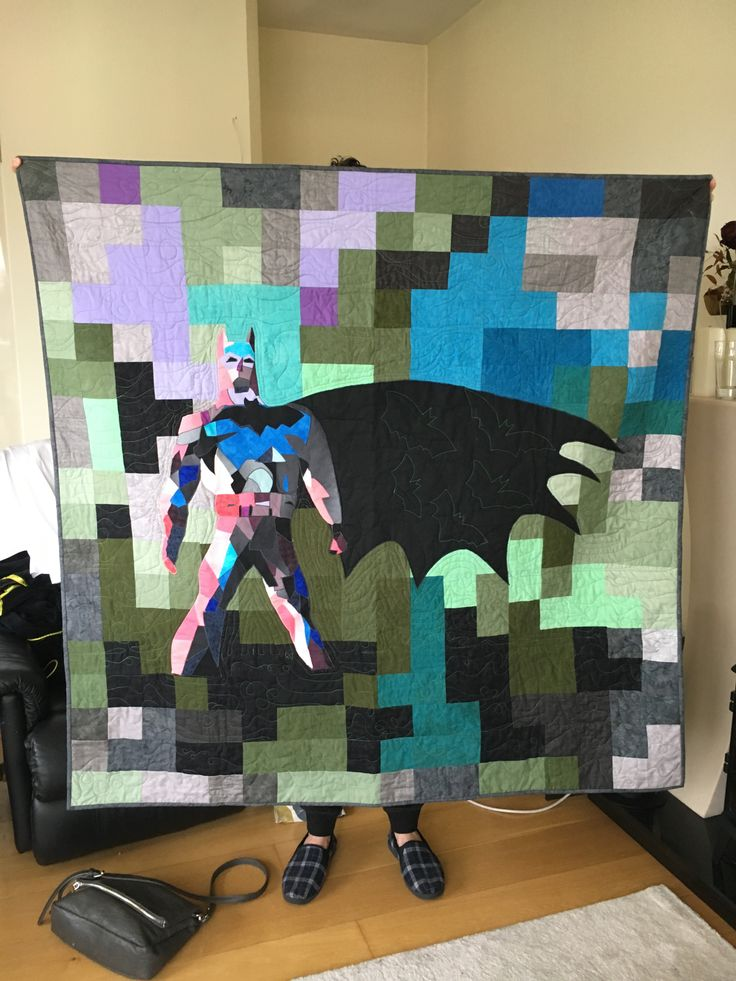 4.5 ft square hand pieces . Spent six months gathering fabrics and a tear making it in evening