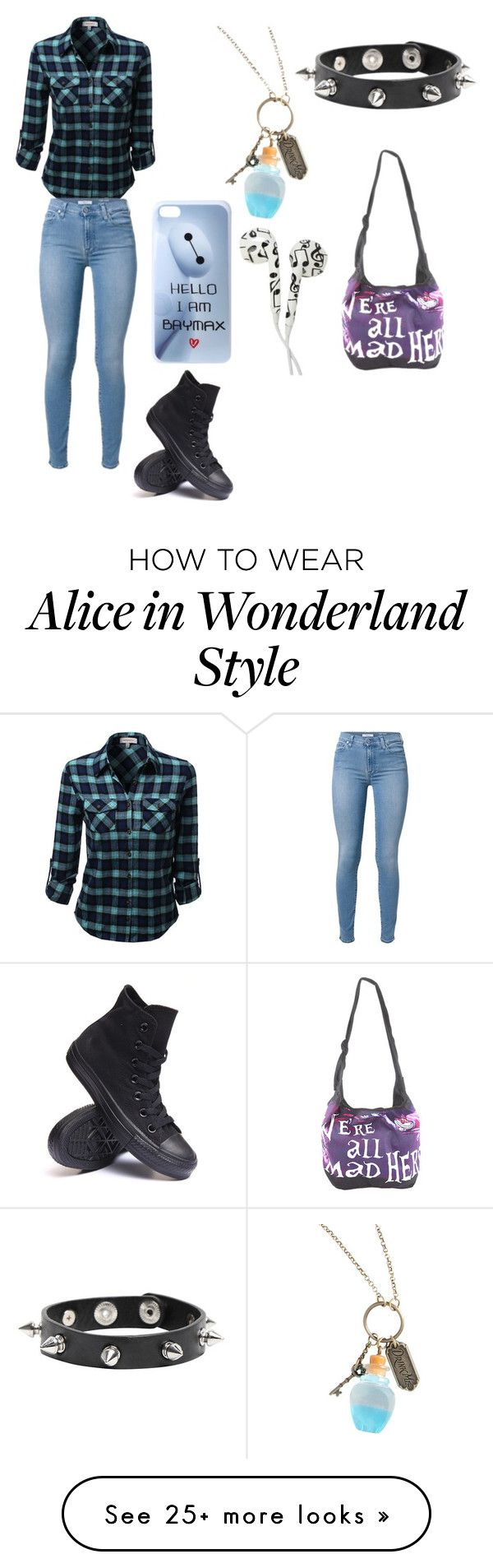 """""""Untitled #104"""" by ghostgirl2519 on Polyvore featuring Converse and Disney"""