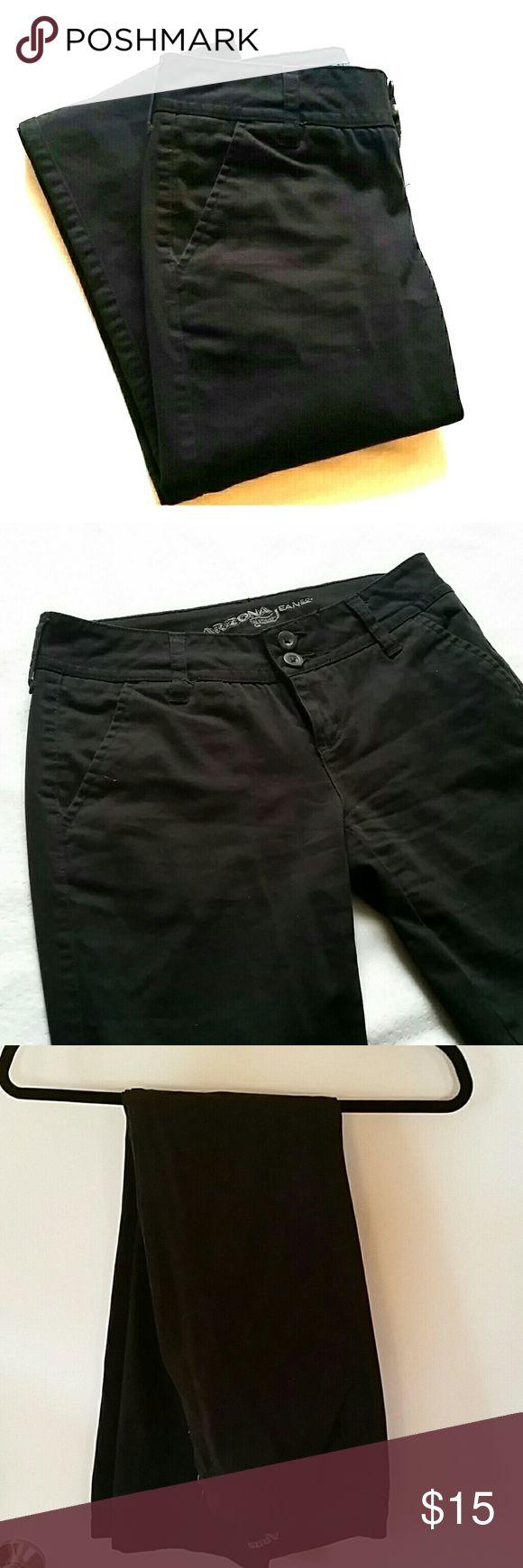 Arizona black khaki pants Black arizona khakis, size 1 Long. Boot cut, slim fit. Like new, only worn a few times. Bundle these with the khaki pair for only  $16! Arizona  Pants Boot Cut & Flare