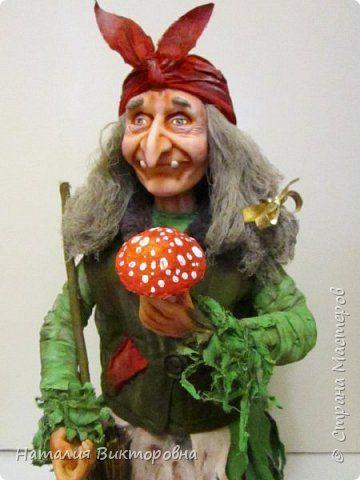 Баба Яга сделана на заказ- высота 60 см! Цвет одежды пожелание заказчика! фото 2