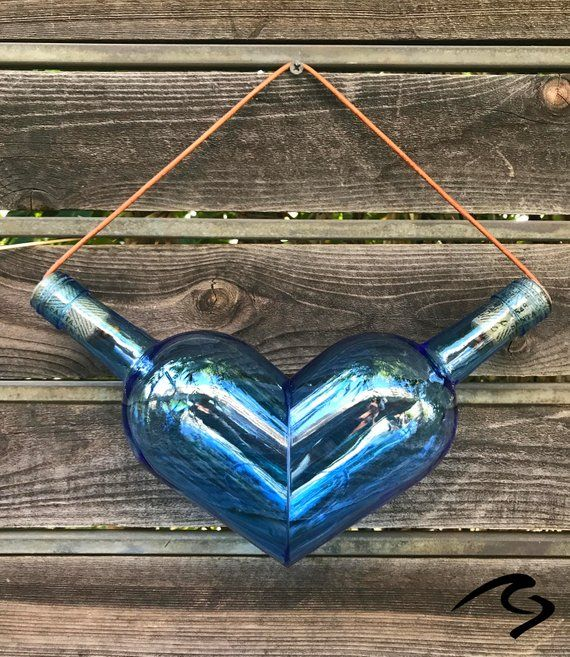 Weinflasche Herz Glas Art ARTIKEL # GCWBHEARTGA