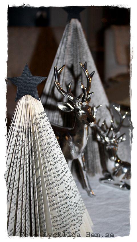 Blev inspirerad av en tjej på Instagram (79392, Karin Stigsdotter) som hade vikt fina granar av gamla böcker. Hon hade dessutom lagt ut en ...