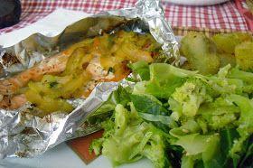 Io Healthy Kitchen : Salmão em papelote com legumes
