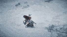 Playing Horizon Zero Dawn: The Frozen Wilds when I noticed Guerrilla Games actually rendered the grass under the snow.