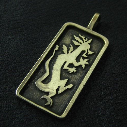 Bronze Discord pendant by TheSunkenCity on Etsy