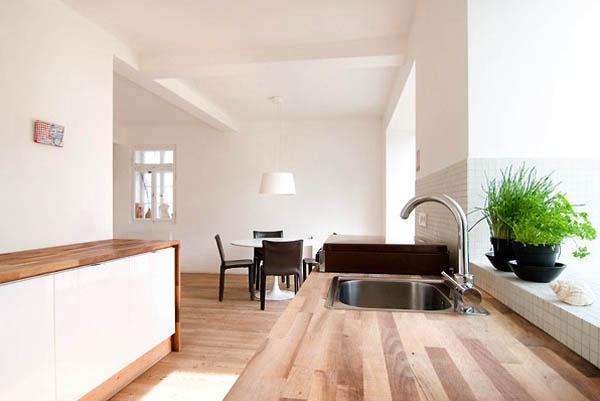 Kitchen design at German Design Wooden House by architect FFM