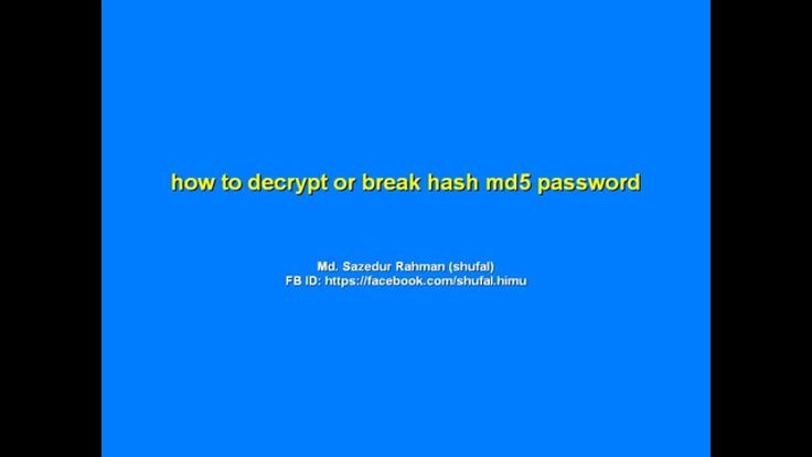 how to decrypt or break hash md5 password from online