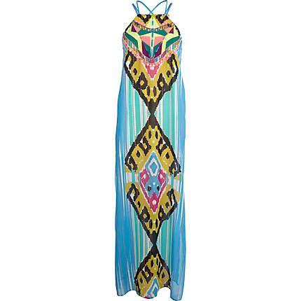 Blue Pacha embroidered tribal maxi dress - pacha - swimwear / beachwear - women