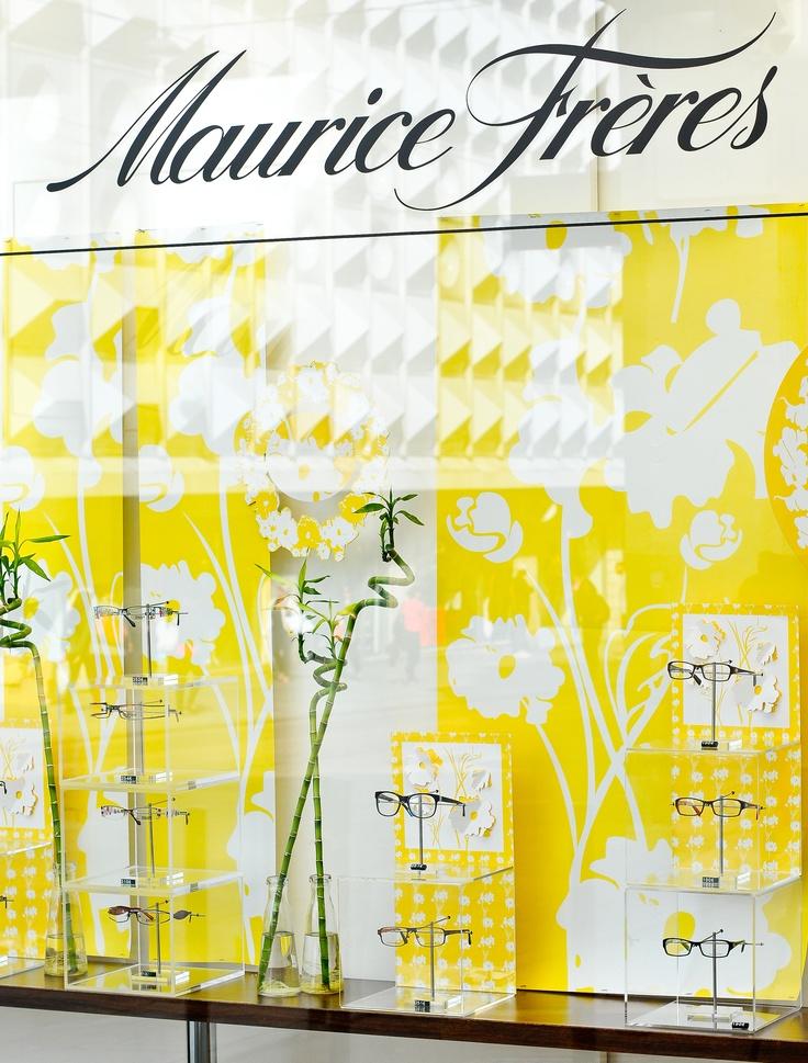 Nos vitrines : le premier bonjour de votre opticien Maurice Frères