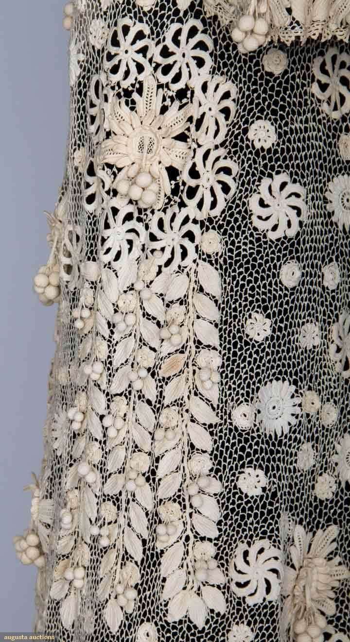 IRISH CROCHET EDWARDIAN COAT Lace worked in tight ...