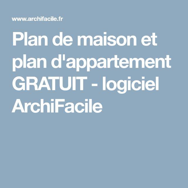 Plan de maison et plan d'appartement GRATUIT - logiciel ArchiFacile