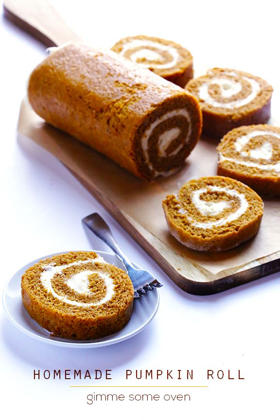 Learn how to make a classic pumpkin roll recipe with cream cheese filling. It's easy, and is always a total crowd-pleaser!