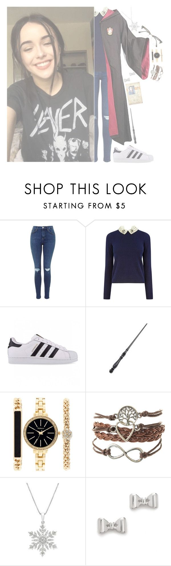 """""""&- ootd; same ol' hogwarts """" by sillylovinganons ❤ liked on Polyvore featuring Oasis, adidas Originals, Style & Co., Marc by Marc Jacobs and Ray-Ban"""