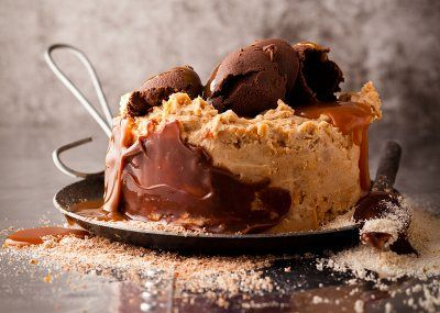 Peanut Butter No Bake Fridge Cake