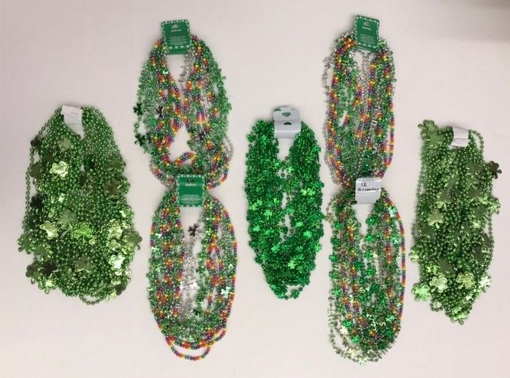 St Patricks Day Beads Parade Throws 84 Bead Necklaces Assorted 7 Dozen #Assorted