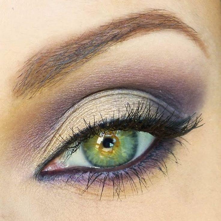 Gold & purple eyeshadow