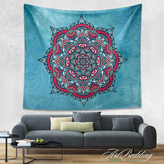 Tapestry Bohemian tapestries Bohemian tapestry wall by ArtBedding