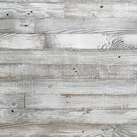 white washed barnwood, plank and mill, peel and stick wood