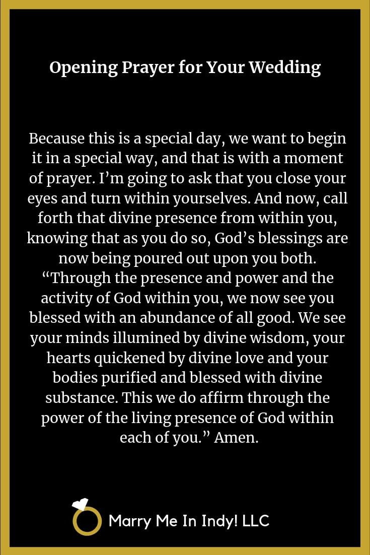 Opening Prayer For Your Wedding Ceremony Opening Prayer Prayer For You Wedding Prayer