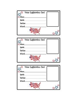 Voter Registration Card- Election