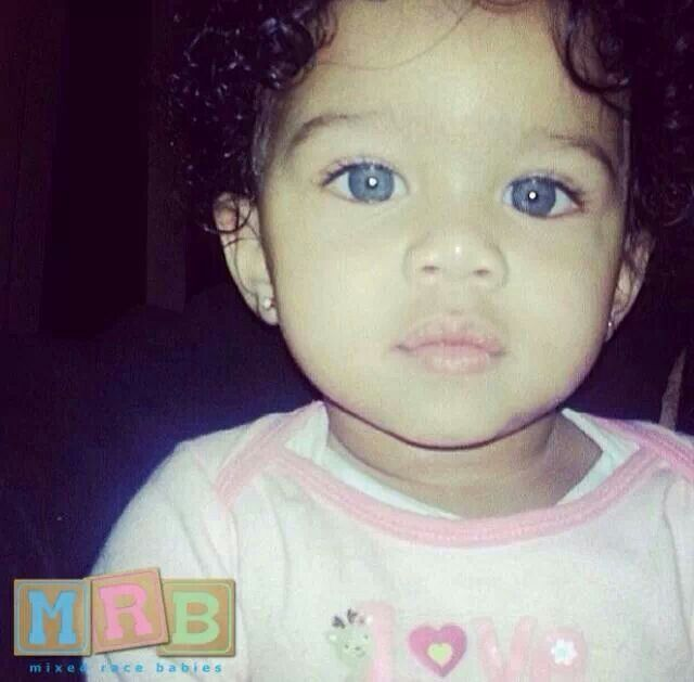 Mixed Cute Eyes Blue Race Babies