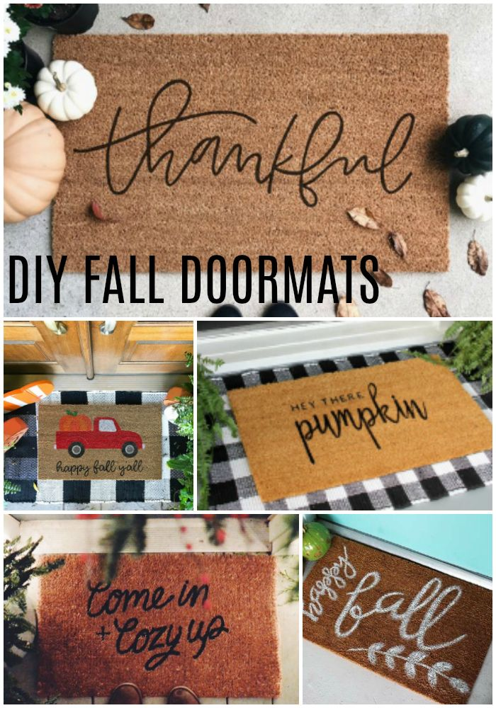 Diy Fall Doormats To Dress Up Your Front Porch Fall Doormat Diy Fall Door Mat Diy