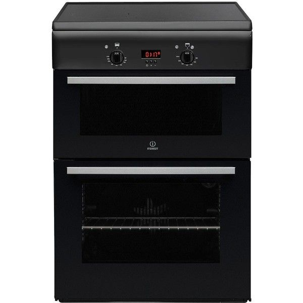 Indesit Id6Ivs2A 60Cm Electric Cooker With Induction Hob (£630) ❤ liked on Polyvore featuring home, home improvement and household appliances