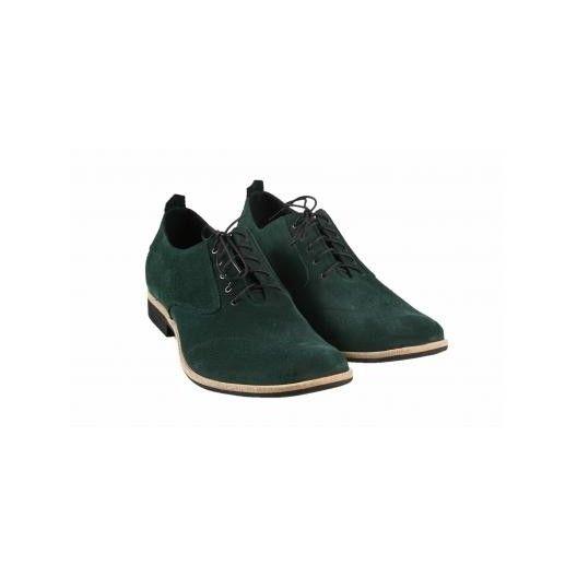 Pánske kožené topánky zelené PT009 - manozo.hu